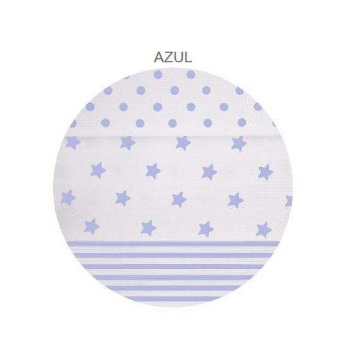 Edredón Combinado - Blanco - Estrellitas Azul Claro - 195 x 265 cm
