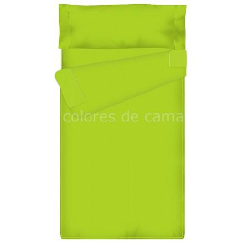 Saco nórdico Ajustable Liso - PISTACHO - 140 x 210 cm - Relleno 100 gr/m2