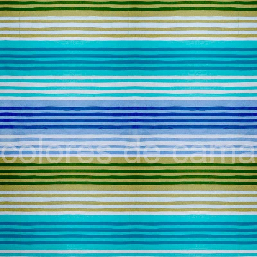 "Funda de Cojín Cuadrante ""Ona Azul"" - 40 x 40 cm - Con Cremallera"