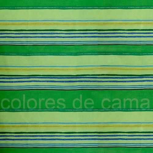 Funda de Cojín Cuadrante Lola Verde - 50 x 50 cm - Con Cremallera