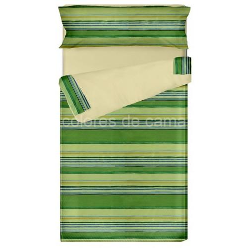 "Saco nórdico Cremallera ""Lola Verde"" - Forma Especial - 138 x 187 x 10 cm - Relleno 250 gr/m2"
