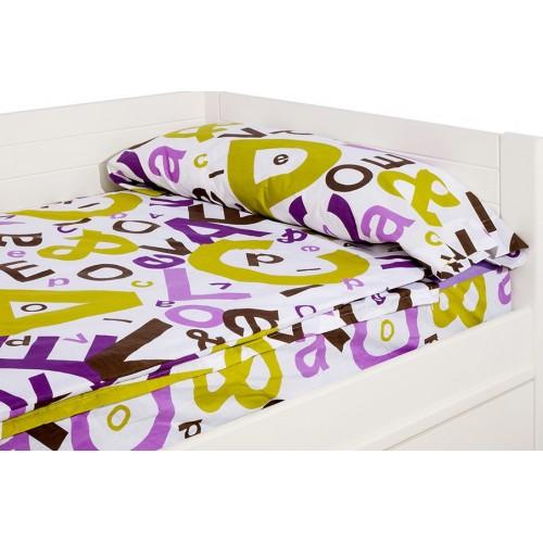 "Saco nórdico Cremallera ""Peace Lila"" - 140 x 200 x 10 cm - Forma Especial - Relleno 250gr/m2"