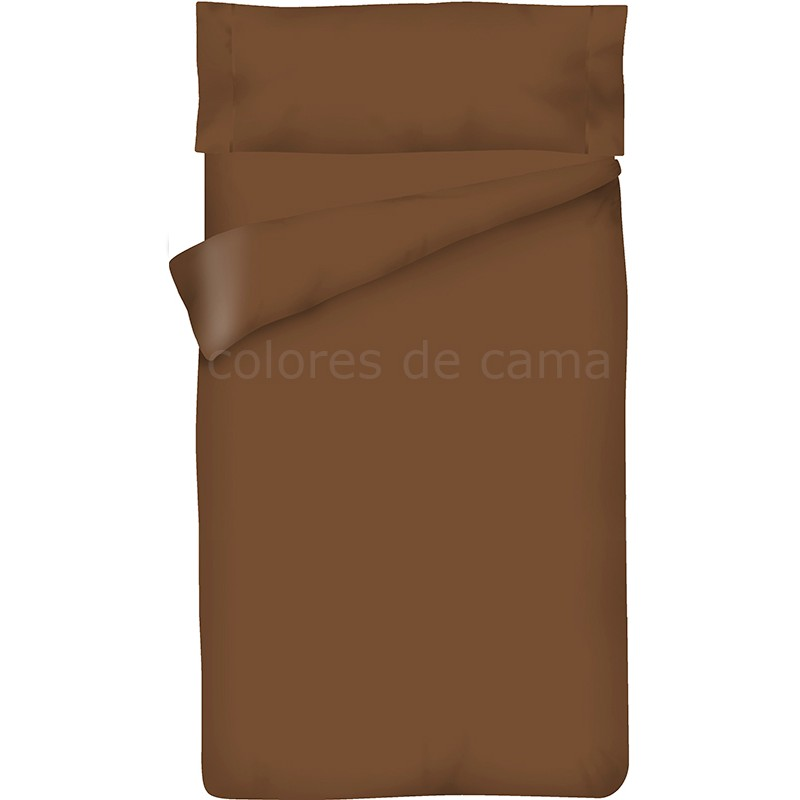 Funda nórdica Lisa MARRON CHOCOLATE - 2 Piezas