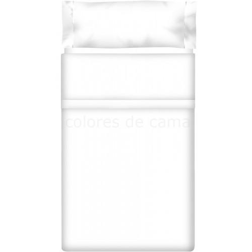"""Juego de sábanas Blanco 100 """"Algodón"""" - 3 Piezas"""