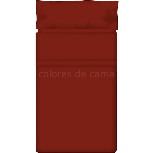 """Juego de sábanas Lisas """"Granate"""" - 200 X 210 cm"""