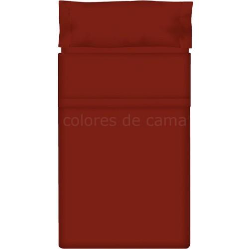"""Juego de sábanas Lisas """"Granate"""" - 180 x 200 X 33 cm"""