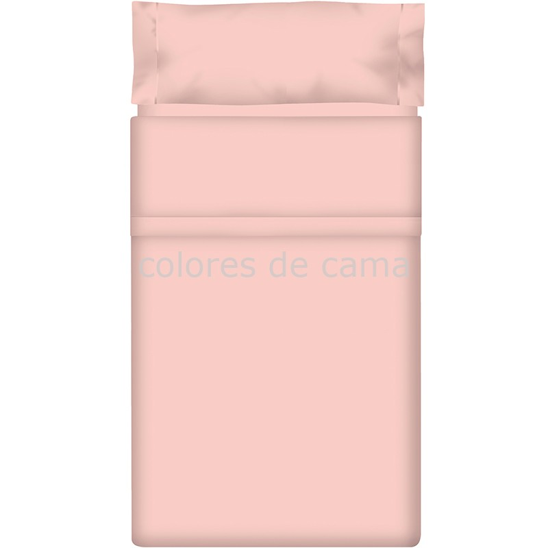 """Juego de sábanas Lisas """"Rosa Baby"""" - Medida: 80 x 160 cm"""