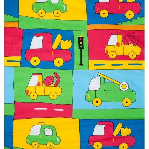 """Juego de sábanas """"Truck Amarillo"""" - 2 Piezas"""
