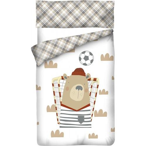 """Funda nórdica Reversible """"Algodón"""" Soccer - 3 Piezas"""