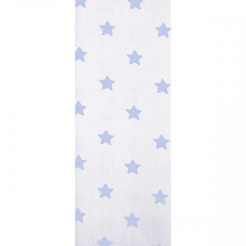 """Chichonera  """"Algodón y Pique""""  Estrellas Azules - Medida 55+70+55 cm"""