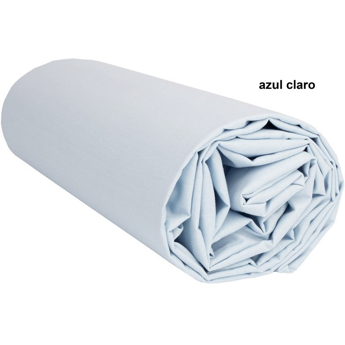 Juego de sábanas Lisas AZUL CLARO - 3 Piezas - 90 x 230 x 28 cm