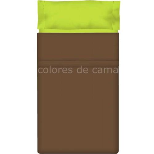 """Juego de sábanas Lisas """"Azul Oscuro / Azul Claro"""" - 203 X 290 cm"""