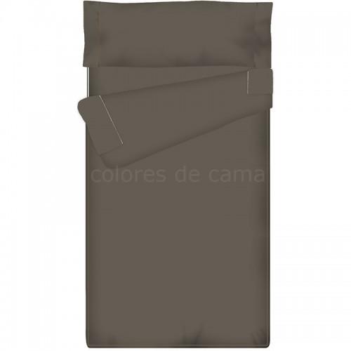 Saco nórdico Ajustable Liso - GRIS OSCURO - 90 x 210 cm - Sin Relleno