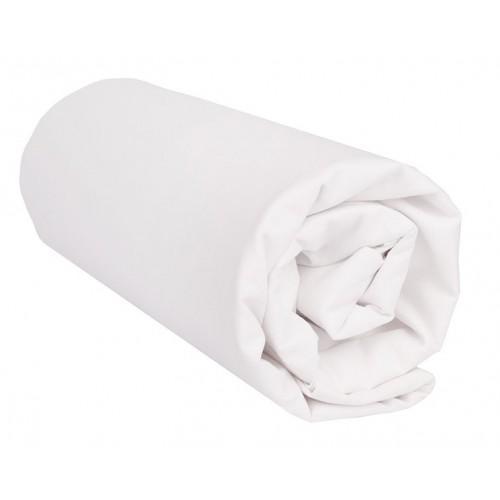 "Sábana Bajera ""Blanco"" 100 Algodón - 150 x 200 x 35 cm"