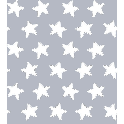 "Colcha Copriletto Reversible ""ESTRELLAS BLANCO FONDO GRIS LUNA"" - Medida: 80 x 160 cm (130 x 200 cm)"