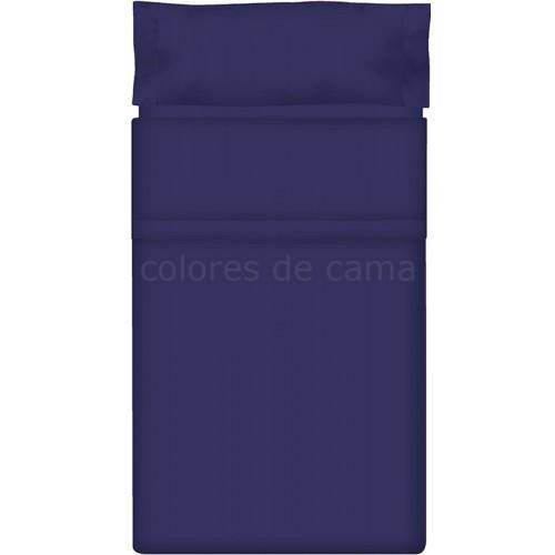 """Juego de sábanas Lisas """"Azul Oscuro"""" - 200 X 210 cm"""