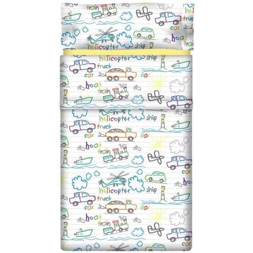 """Juego de sábanas """"Notebook"""" - 3 Piezas"""