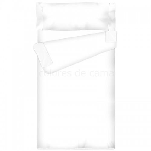 Saco nórdico Ajustable Liso - BLANCO - Forma Especial - 160 x 190 cm -  relleno 4 ESTACIONES